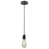 This item: Edison Matte Black Two-Inch One-Light Mini Pendant with Gray Cord