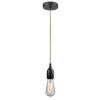 This item: Chelsea Matte Black One-Light Mini Pendant with Rope Cord