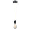 This item: Gatsby Matte Black One-Light Mini Pendant with Rope Cord