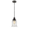 This item: Winchester Oil Rubbed Bronze Eight-Inch One-Light Mini Pendant with Black Cord