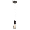 This item: Gatsby Oil Rubbed Bronze One-Light Mini Pendant with Black Cord