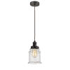 This item: Edison Oil Rubbed Bronze Eight-Inch One-Light Mini Pendant with Brown Cord