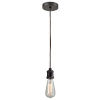 This item: Edison Oil Rubbed Bronze Two-Inch One-Light Mini Pendant with Brown Cord