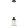 This item: Whitney Oil Rubbed Bronze Eight-Inch One-Light Mini Pendant with Zebra Cord