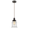 This item: Whitney Oil Rubbed Bronze Eight-Inch One-Light Mini Pendant with Copper Cord