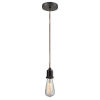 This item: Whitney Oil Rubbed Bronze Two-Inch One-Light Mini Pendant with Copper Cord
