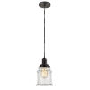 This item: Whitney Oil Rubbed Bronze Eight-Inch One-Light Mini Pendant with Gray Cord