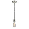 This item: Whitney Satin Nickel Two-Inch One-Light Mini Pendant with Black Cord