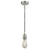 This item: Chelsea Satin Nickel One-Light Mini Pendant with Black Cord