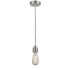 This item: Winchester Satin Nickel Two-Inch One-Light Mini Pendant with Zebra Cord