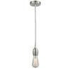 This item: Chelsea Satin Nickel One-Light Mini Pendant with Zebra Cord