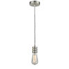 This item: Gatsby Satin Nickel One-Light Mini Pendant with Zebra Cord