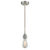 This item: Winchester Satin Nickel Two-Inch One-Light Mini Pendant with Copper Cord