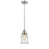 This item: Winchester Satin Nickel Eight-Inch One-Light Mini Pendant with Gray Cord