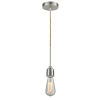 This item: Winchester Satin Nickel Two-Inch One-Light Mini Pendant with Rope Cord