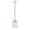 This item: Edison White Eight-Inch One-Light Mini Pendant with Black Cord