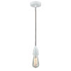 This item: Fairchild White One-Light Mini Pendant with Brown Cord