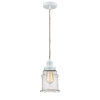 This item: Winchester White Eight-Inch One-Light Mini Pendant with Copper Cord
