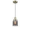 This item: Small Bell Antique Brass One-Light Mini Pendant with Smoked Glass