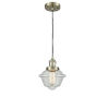 This item: Small Oxford Antique Brass LED Mini Pendant with Seedy Glass