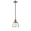 This item: Fulton Antique Copper Seven-Inch One-Light Mini Pendant with Clear Sphere Glass and Black Cord