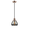 This item: Fulton Antique Copper Seven-Inch LED Mini Pendant with Smoked Sphere Glass and Black Cord