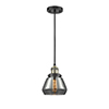 This item: Fulton Black Antique Brass Seven-Inch LED Mini Pendant with Smoked Sphere Glass and Black Cord