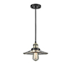 This item: Halophane Black Antique Brass Nine-Inch LED Mini Pendant with Halophane Cone Glass and Black Cord