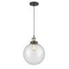 This item: Franklin Restoration Black Antique Brass 10-Inch LED Pendant with Seedy Beacon Shade and Black Textured Cord