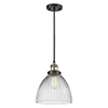 This item: Seneca Falls Black Antique Brass 10-Inch One-Light Mini Pendant with Clear Dome Glass
