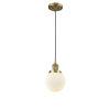 This item: Beacon Brushed Brass One-Light Mini Pendant