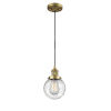 This item: Beacon Brushed Brass LED Mini Pendant with Seedy Glass