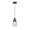 This item: Franklin Restoration Matte Black Six-Inch LED Mini Pendant with Small Seedy Canton Shade and Black Textured Cord