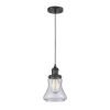 This item: Bellmont Matte Black One-Light Mini Pendant with Seedy Glass