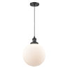 This item: Franklin Restoration Matte Black 10-Inch LED Pendant with Matte White Cased Beacon Shade and Black Textured Cord