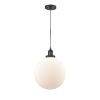 This item: Franklin Restoration Matte Black 12-Inch One-Light Pendant with Matte White Cased Beacon Shade and Black Textured Cord