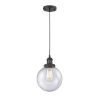 This item: Franklin Restoration Matte Black Eight-Inch One-Light Mini Pendant with Seedy Beacon Shade and Black Textured Cord