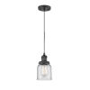 This item: Franklin Restoration Matte Black Five-Inch LED Mini Pendant with Clear Glass Shade