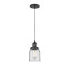 This item: Small Bell Matte Black One-Light Mini Pendant with Clear Glass