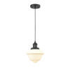 This item: Small Oxford Matte Black 60W One-Light Mini Pendant with Matte White Cased Glass
