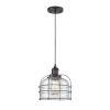 This item: Large Bell Cage Matte Black One-Light Mini Pendant