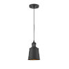 This item: Franklin Restoration Matte Black LED Mini Pendant with Addison Matte Black Metal Shade and Black Textured Cord