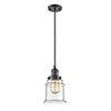 This item: Canton Oiled Rubbed Bronze Six-Inch One-Light Mini Pendant with Clear Bell Glass