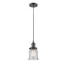 This item: Franklin Restoration Oil Rubbed Bronze Six-Inch One-Light Mini Pendant with Seedy Canton Shade and Black Textured Cord
