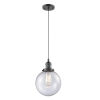 This item: Franklin Restoration Oil Rubbed Bronze Eight-Inch LED Mini Pendant with Seedy Beacon Shade and Black Textured Cord