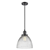 This item: Seneca Falls Oiled Rubbed Bronze 10-Inch LED Mini Pendant with Clear Dome Glass