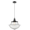 This item: Franklin Restoration Oil Rubbed Bronze 12-Inch LED Pendant with Seedy Large Oxford Shade and Black Textured Cord