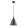 This item: Franklin Restoration Oil Rubbed Bronze One-Light Mini Pendant with Appalachian Oil Rubbed Bronze Metal Shade and Black Textured Cord