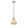 This item: Fulton Polished Chrome 60W One-Light Mini Pendant with Matte White Cased Glass