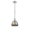 This item: Fulton Polished Chrome One-Light Mini Pendant with Smoked Glass